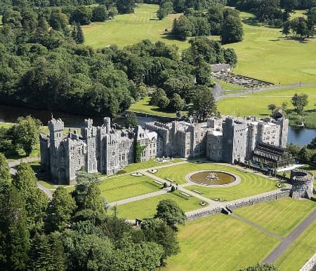 Ashford Castle, scene of Reign, the TV series about Mary Stuart, queen of Scots