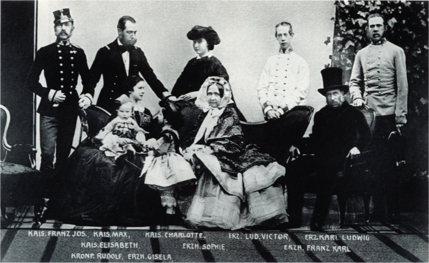 The Austrian imperial family in 1861