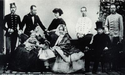 The Austrian empirial family in 1861