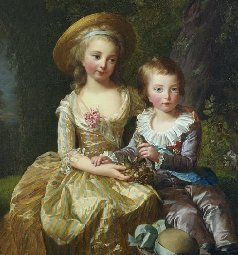 Princess Marie Thérèse of France and her younger brother Louis Joseph Xavier of France, Dauphin of France