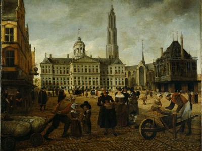 Amsterdam Town Hall in the 17th century