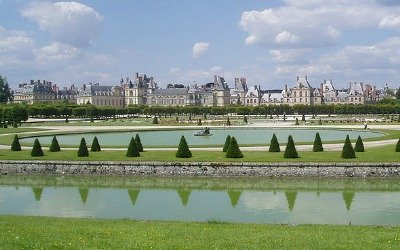 View on the gardens of Chateau de Fontainebleau