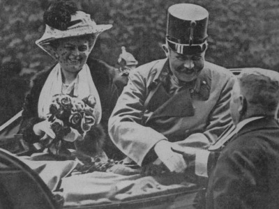 Archduke Franz Ferdinand with his wife Sophie, Duchess of Hohenberg
