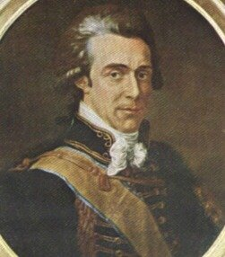 Count Axel von Fersen, one of Marie Antoinette's  favorite guests, and probably her lover.