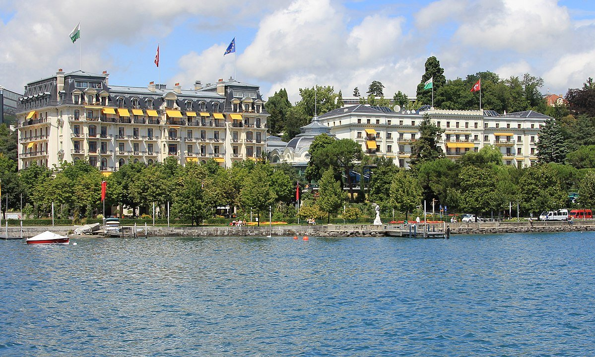 Hotel Beau-Rivage, Geneve. Empress Elisabeth of Austria died here.