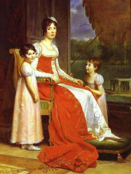 Julie Clary, wife of Joseph Bonaparte, with her two daughters