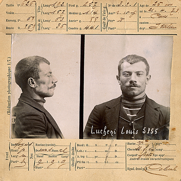 Mugshot of Luigi Lucheni