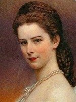 Empress Sisi with the famous braids hairstyle