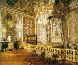 The Queen's Bedchamber in the grand appartments, palace of Versailles