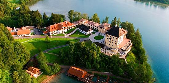 Schloss Fuschl, acting as Schloss Possenhofen in the Sissi Trilogy