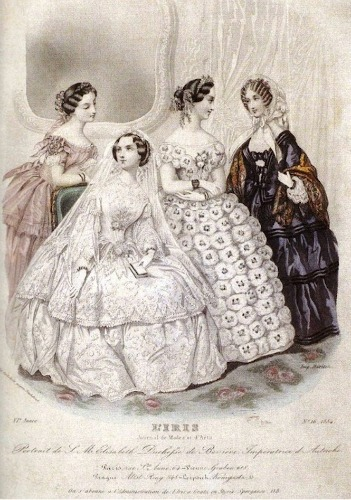 Wedding dress Empress Elisabeth according to the