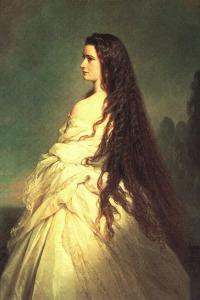 Empress Elisabeth with her Hair down by Franz Xaver Winterhalter, 1865