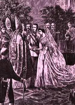 Wedding Franz-Joseph and Elisabeth, from the 'Stadtchronik Wien'